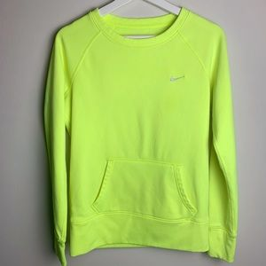 Nike Thera-Fit Pullover Sweater Neon Yellow